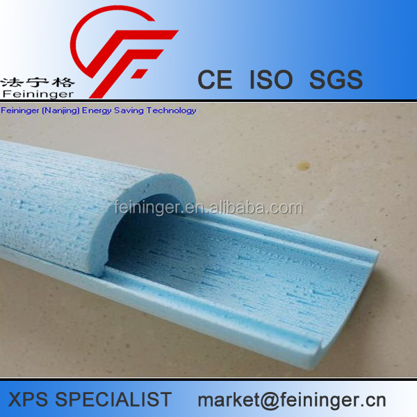 XPS foam pipe insulation material, insulation pipe