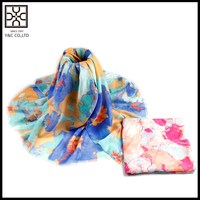 New Design Muslim Printing Polyester Scarf