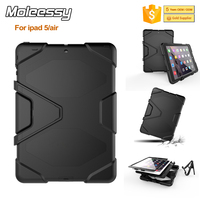 Excellent quality shockproof cute case for ipad air/ipad 5 silicone+pc tough armor case china factory