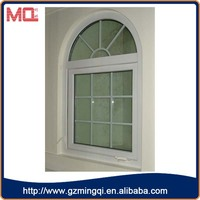Arch shaped casement windows with grille