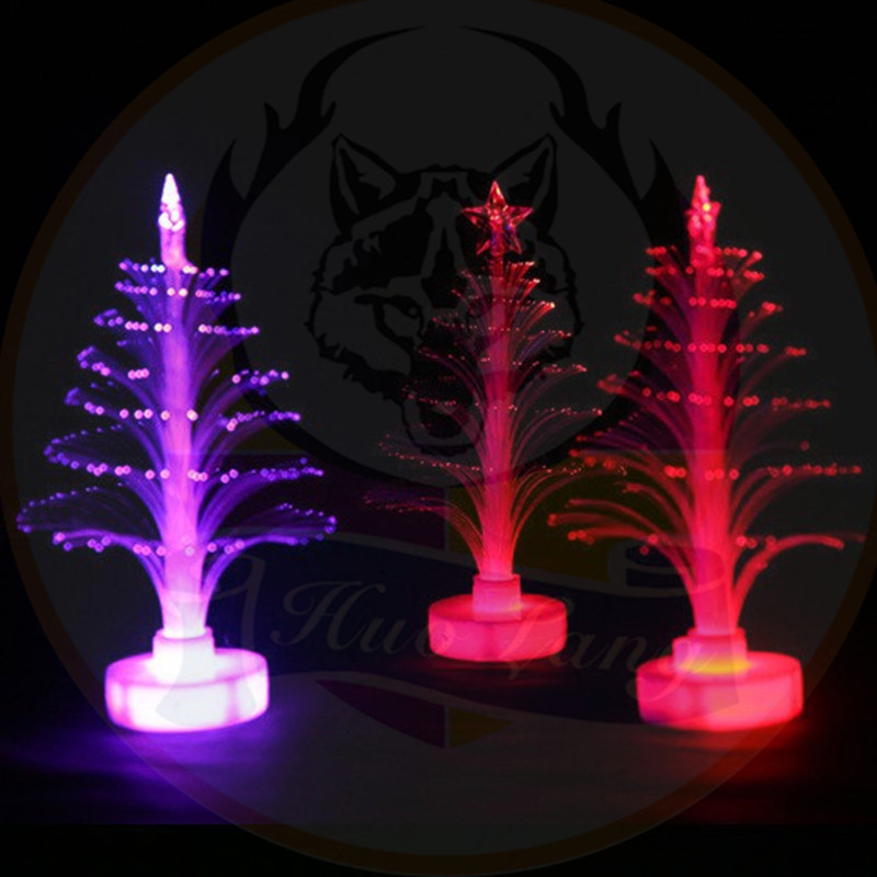 Promotion Gift 컬러 풀 한 LED 빛 Fiber Optic Christmas Tree 2018 크리스마스 자 장식 LED 빛 Tree