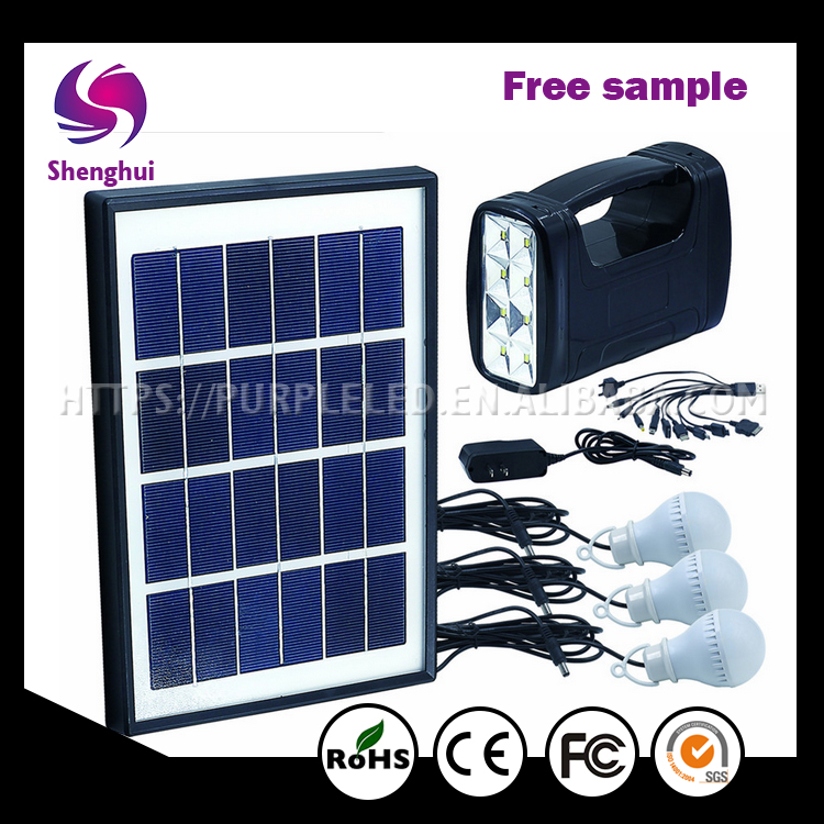 High Efficiency green energy Outdoor camping 9V mini Solar Lighting <strong>Kit</strong>,3.5W Portable Solar System, Sunlight soalr power system