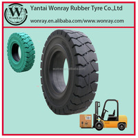 Chinese new tyre factory 6.00-15 /4.50 forklift tire/solid rubber tire&rim,high quality and low price,brand list:WonRay,WRST