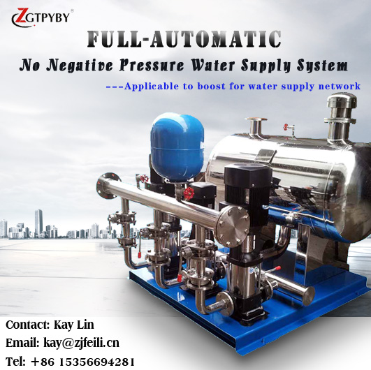 Multistage centrifugal booster pump system for long distance water supply pump