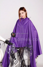 Motorcycle/bicycle eco-friendly outdoor PVC poncho/raincoat with logo printing