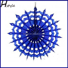 Hot Sale Pinwheel Paper Flower Fans Birthday Hanging Decoration SD058