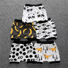 cute cartoon animal printed cotton loose baby sleep shorts for kids at home