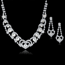Silver Bridal Jewelry Set Wedding Claw Chain Jewelry