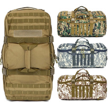 60L Outdoor Activity Camo Army Camouflage Survival knapsack military canvas travelling gripesack backpack