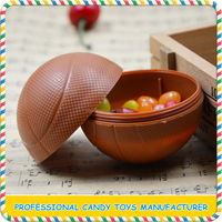 Mini plastic football and basketball shaped candy toys