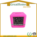 Silicone led display snooze ascending alarm clock