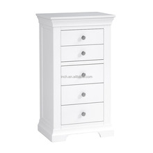 Scandinavian cheap white high gloss hand painted chest of drawers