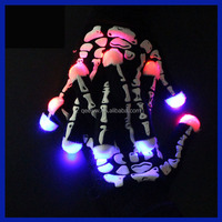 2016 Amazon Supplier Craft decorated flashing led gloves,Rave Led Glove for Halloween