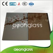 Special Customized Euro Grey Tempered Stained Coated Reflective Glass Sheet for TV screen