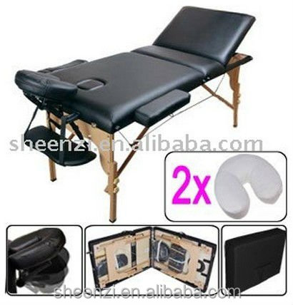 Facial Bed Massage Table Folding 2 Section Spa Massage Salon Furniture