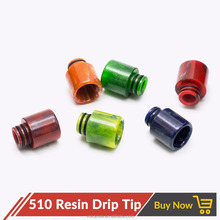Volcanee 510 Epoxy Resin Drip Tip Round Straight 510 Tank Atomizer Mouthpiece for Electronic Cigarettes Atomizer