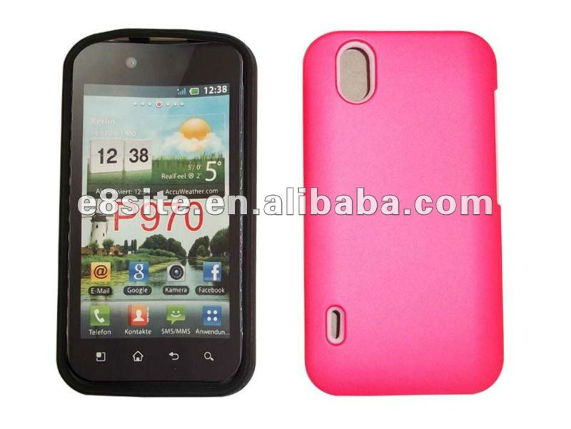 Regular 2 In 1 Silicon With PC Combo Case For LG P970 Optimus Black