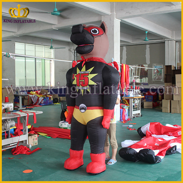 Wholesale Inflatable Dog Cantoon , Inflatable Walking Costume For Adults