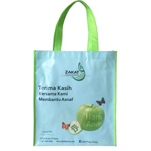Promotional Customized Laminated Eco Fabric Tote pp non woven shopping bag