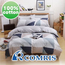 High Quality Geometry Style Bedding Set 100% Cotton Fabric