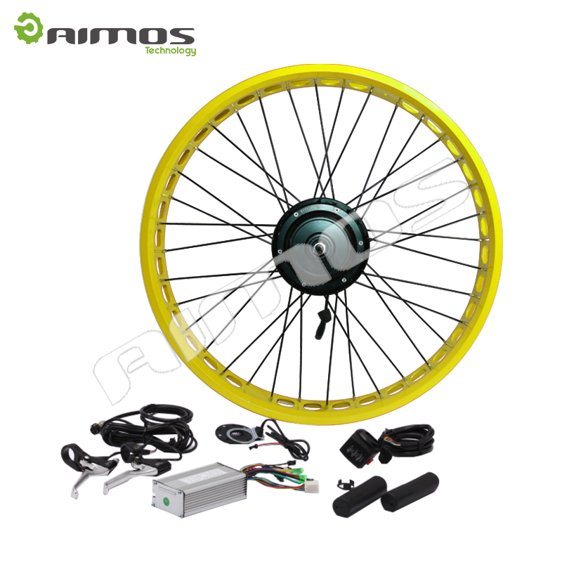 LCD/LED display smart controller 26'' 48V 1000W Electric Bike Conversion Kits