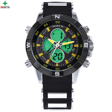 OEM Silicone Rubber Band Japan Movement 3ATM Water Resistance Athletic Watches for Men