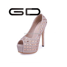 Shining 15cm high heel lady shoes peep toe design