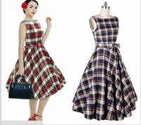 DY0005A Sexy V-Neck Retro 50s Rockabilly Western Cowgirl Horse Print Long Swing Dress