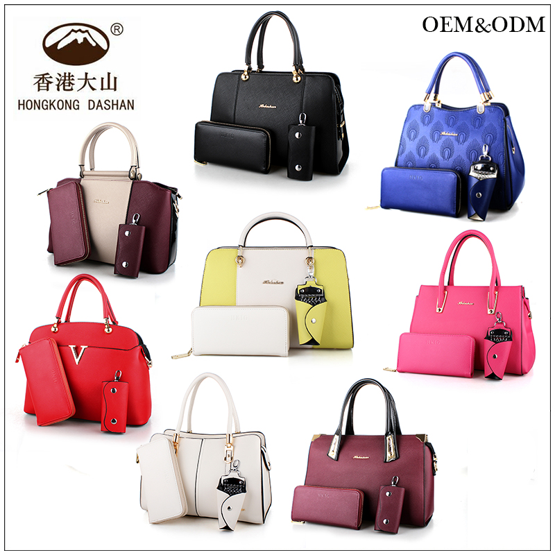 Online Shopping Hong Kong handbags ladies 2015 Hot Sale fashion Korean Style Handbag PU leather bag Sets handbag imitation brand