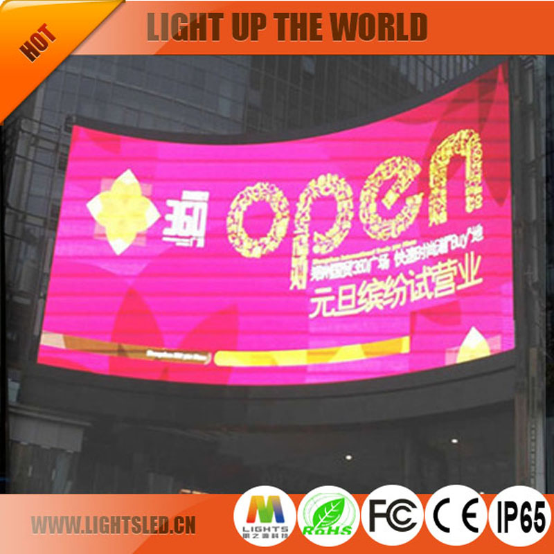 P6 outdoor cheap cabinet circular led display,custom size curved led display screen