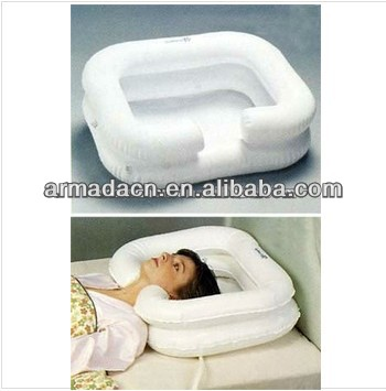 Disability aids Homecare plastic Inflatable Hair Wash Basin