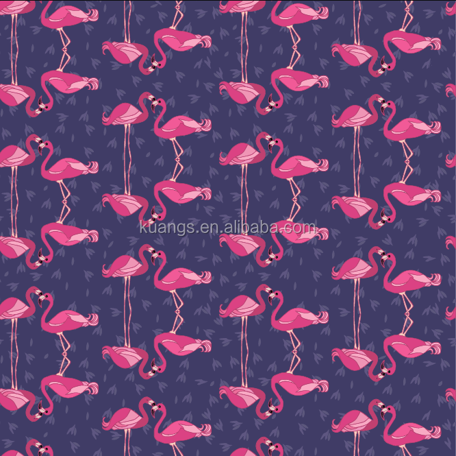 China manufacturer new design high quality flamingo printed minky fabric