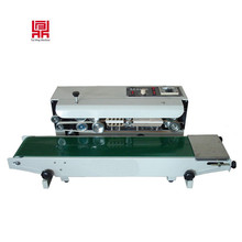 Ink roll continuous plastic film/aluminium foil film sealing machine