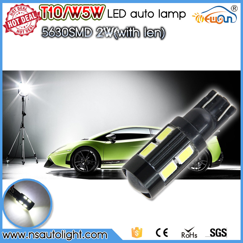 High Power Led Lens T10 Canbus 5630 10SMD