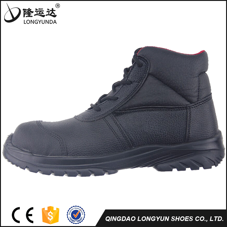Buffalo leather metal toe cap safety shoes for women security guard safety shoes oil slip resistant work shoes LY2506