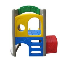 Education fun up-down amusement children castle playground baby tunnel double slide playset