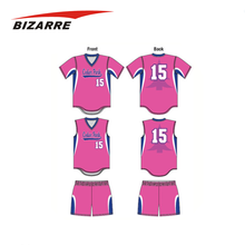 Custom sublimation button down hot pink baseball jersey
