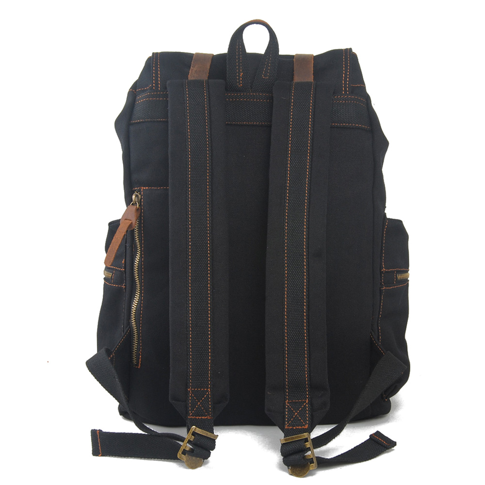 1039s Best Selling Small Quantity Vintage Army Green Canvas Casual Backpack with Custom Logo