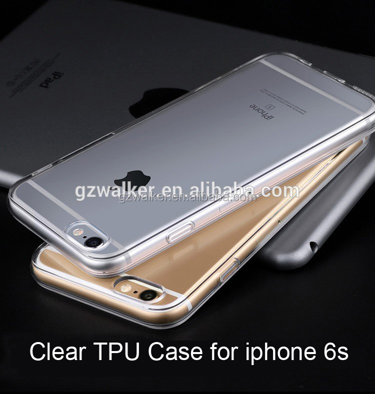 Free Sample Phone Case Clear Slim Crystal Transparent TPU Case for iphone 6s