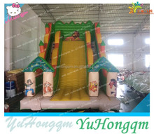 Guangdong Inflatable Monkey Slide ,Customize Sliding Double Lane Slip Slide Inflatable Toys For Adults