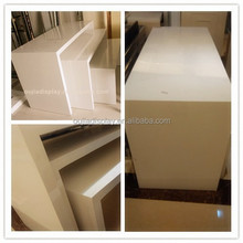 white clothes display table/clothing store fixtures/cloth shop counter table design