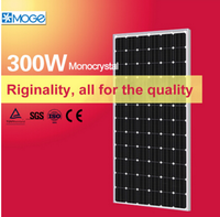 Moge monocrystal 300w price per watt polycrystalline silicon thermal solar panel power system with solar panel / battery
