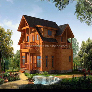 wooden log cabin house made in China with good quality