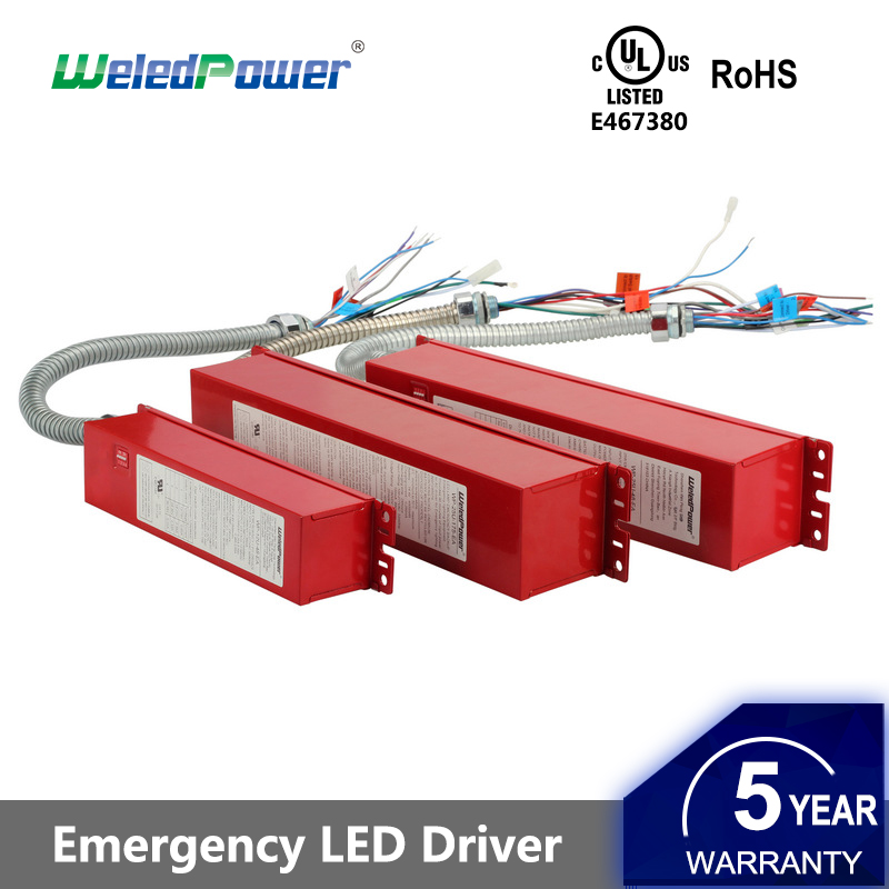 18W 25W 140-185Vdc Battery Backup UL listed emergency driver led power supply