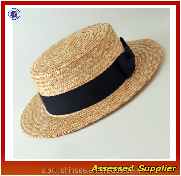 Straw Boater Hats/ cheap straw boater hats for sale/paper boater hat