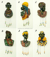 Old abstract African mask painting wall hanging decoration for home