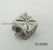 Square zinc beads with hole