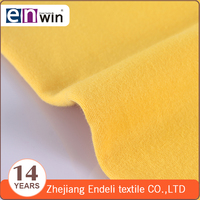 Shaoxing textile hot sell knit yarn dyed double jersey fabric for baby's garment