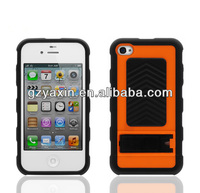 For iphone4 combo case,Rugged Rubber Matte New Stylish Top Grade Hot Sale Hard Cell Phone Case Cover For iPhone 4G 4S
