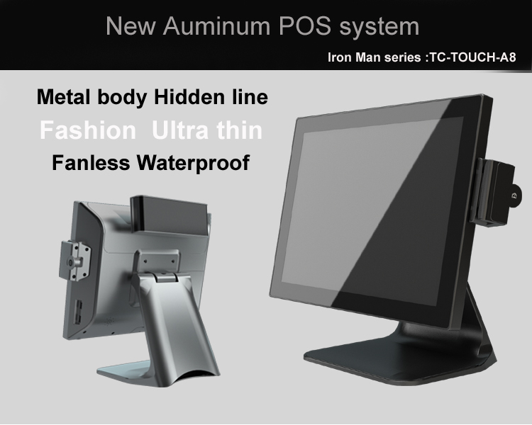 15.6 inch Thin Dual screen pos PC / Capacitive touch screen POS device with 15.6inch customer display